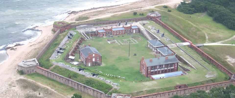 An Aerial View of Fort Clinch